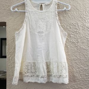 Hollister off white lace tank